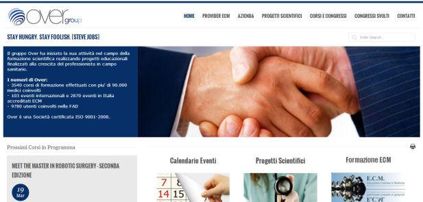 Over Group CORSI ECM - Sviluppo sito web